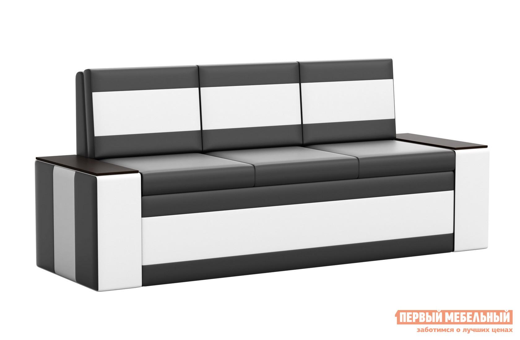 Прямой раскладывающийся диван для кухни со спальным местом Мебелико Кухонный диван Лина эко-кожа