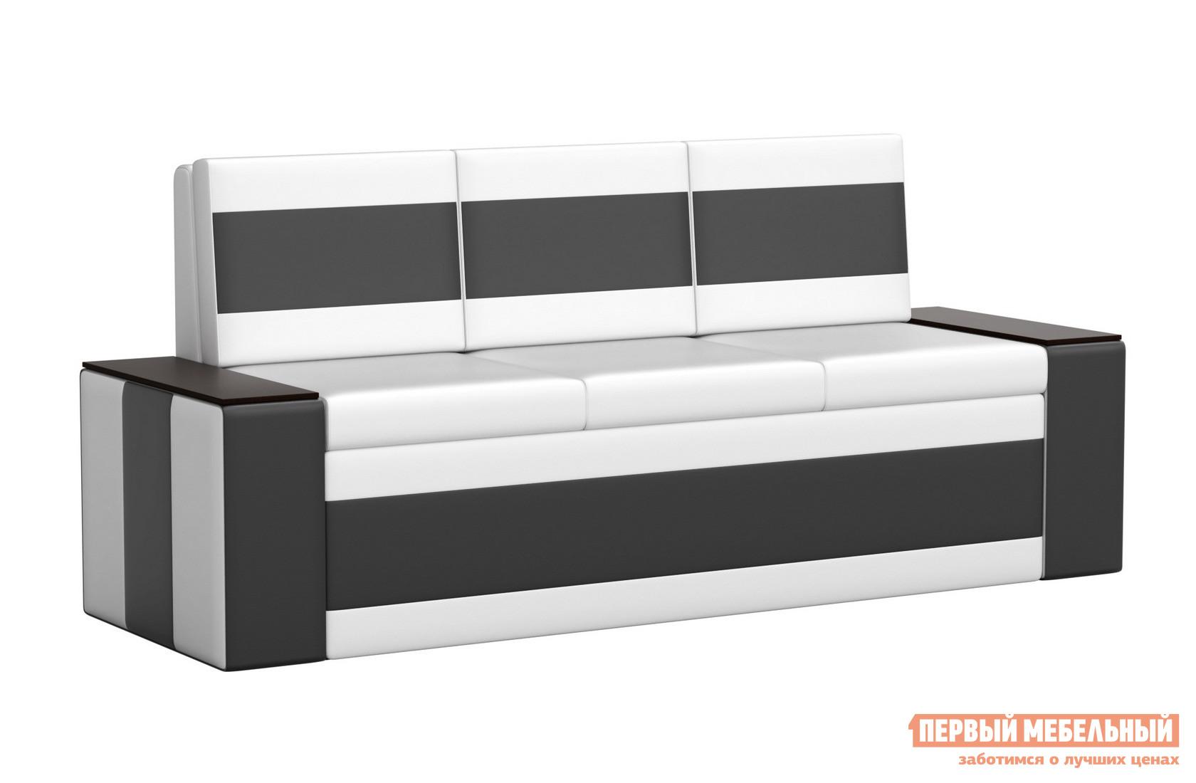 Кухонный диван  Кухонный диван Лина эко-кожа Экокожа бело-черный