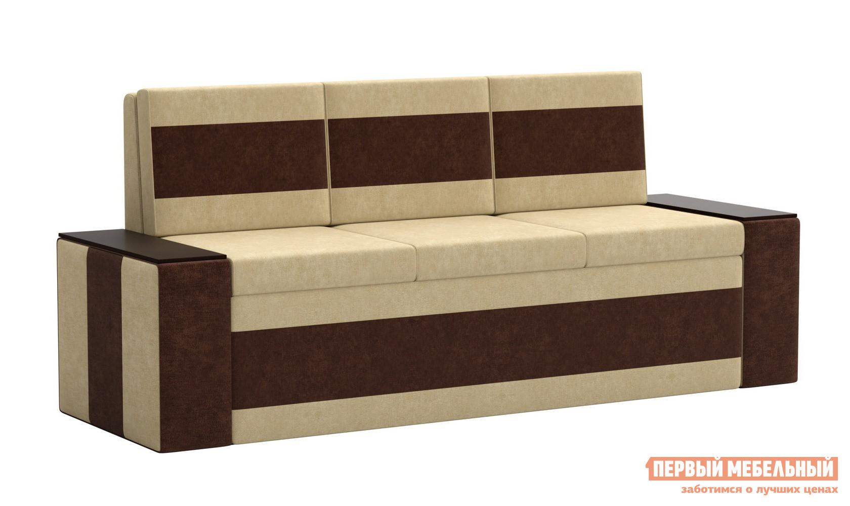 Прямой узкий диван-кровать на кухню со спальным местом Мебелико Кухонный диван Лина Микровельвет