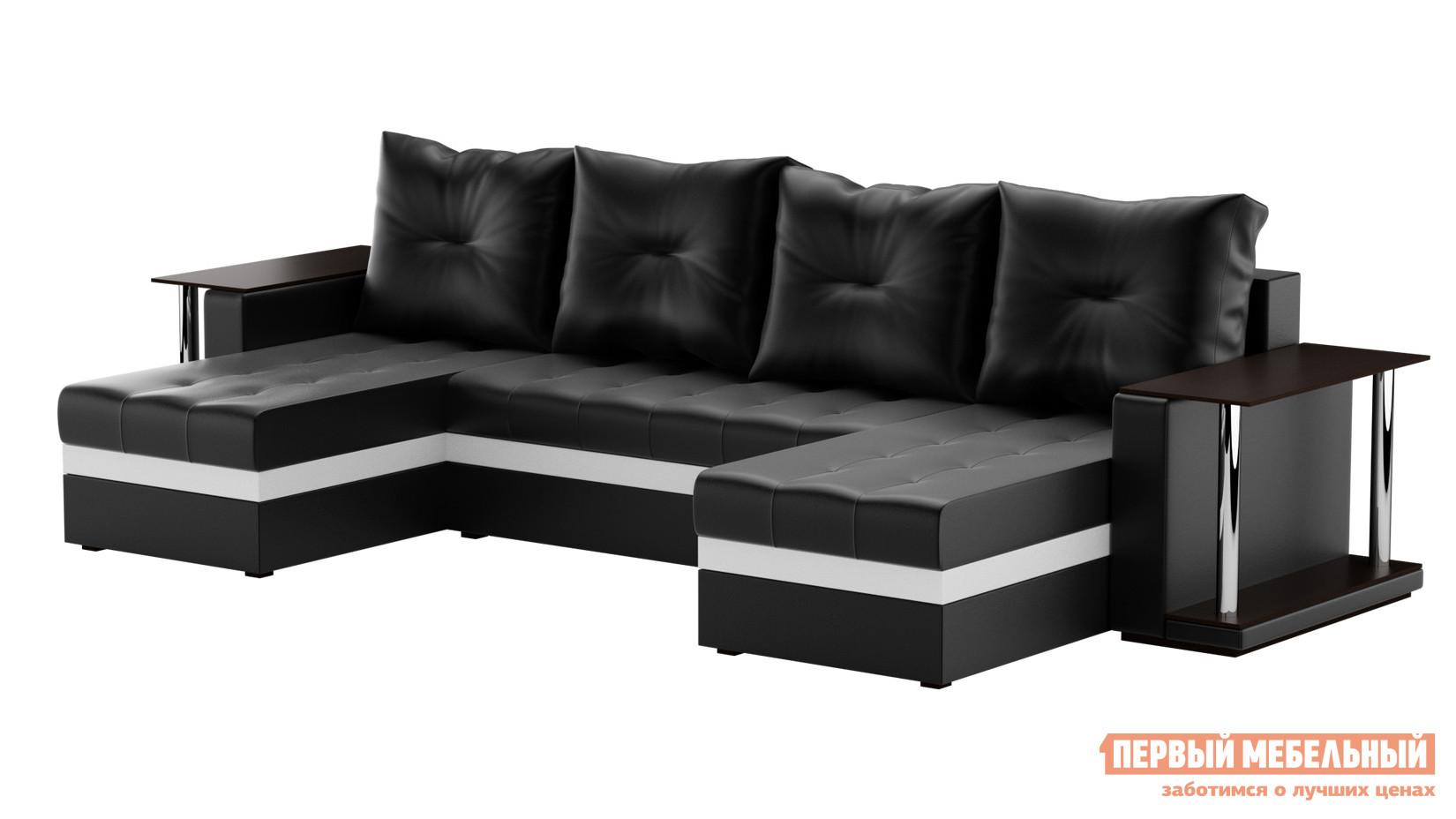 Кожаный угловой диван-кровать Мебелико Атланта П диван п образный угловой aria