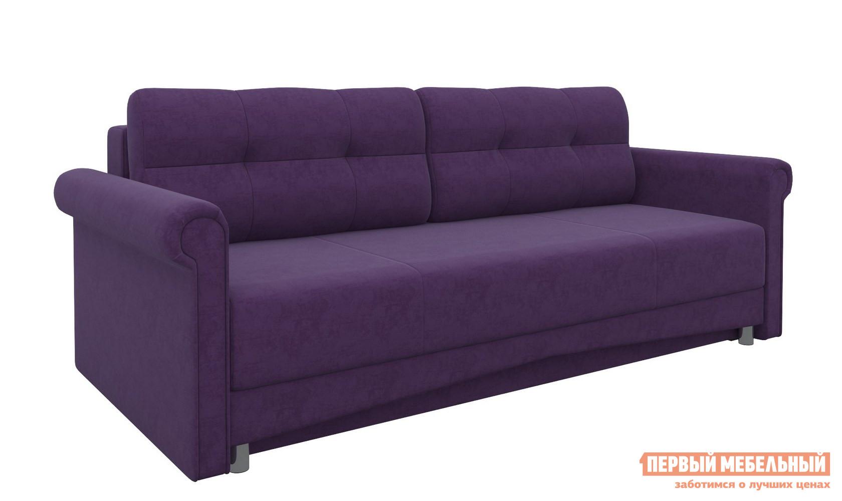 Фото Диван Мебелико Диван-еврокнижка Европа Фиолетовый микровельвет. Купить с доставкой