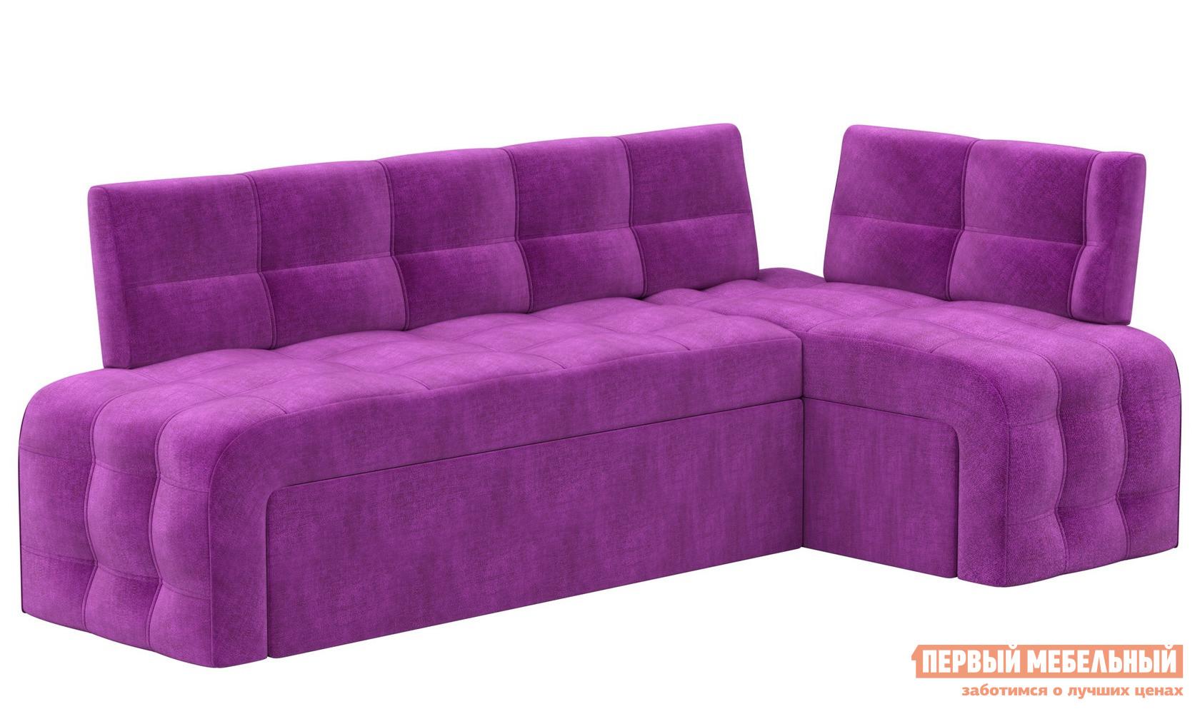 Мягкий спальный кухонный диван Мебелико Кухонный угловой диван Люксор микровельвет