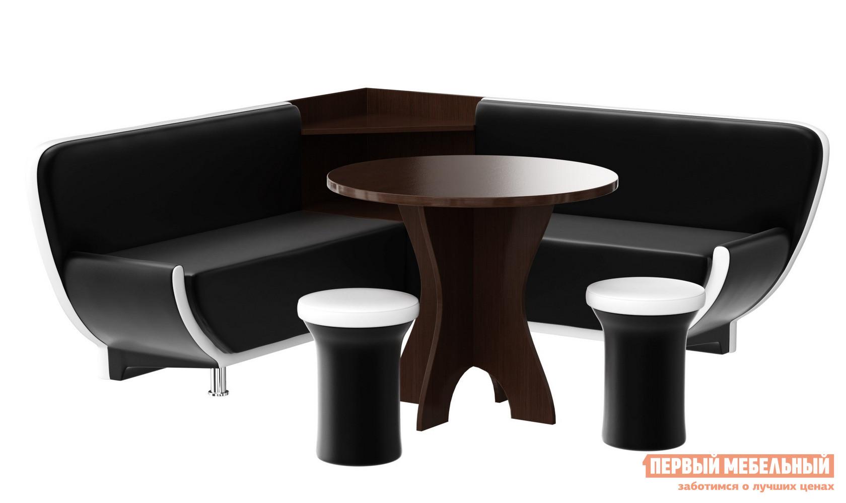 Кухонный уголок со столом и пуфами Мебелико Кухонный уголок Лотос