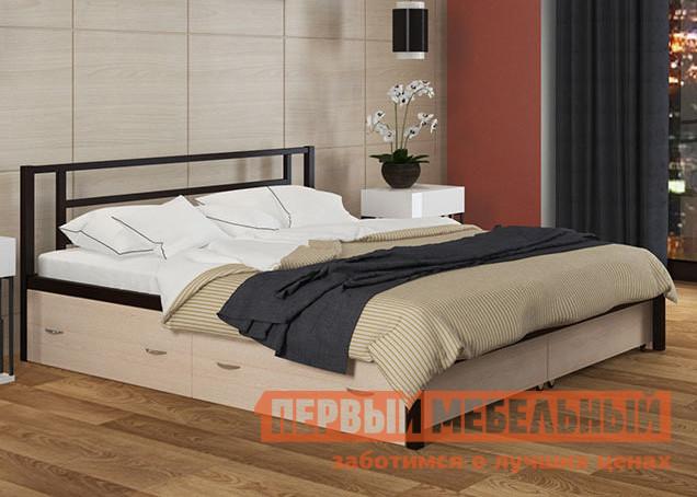 Двуспальная кровать с ящиками МФ 4 Сезона Титан К с ящиками