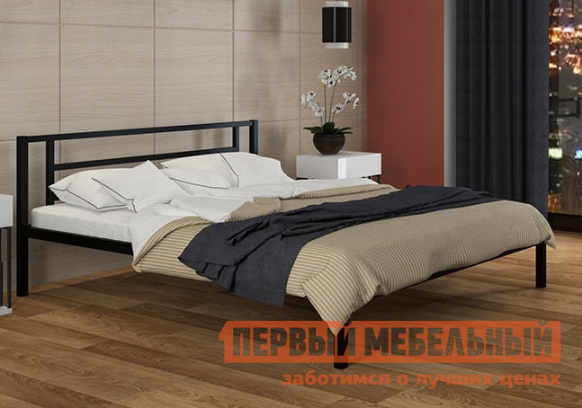 Двуспальная кровать ЧСМФ Титан Коричневый