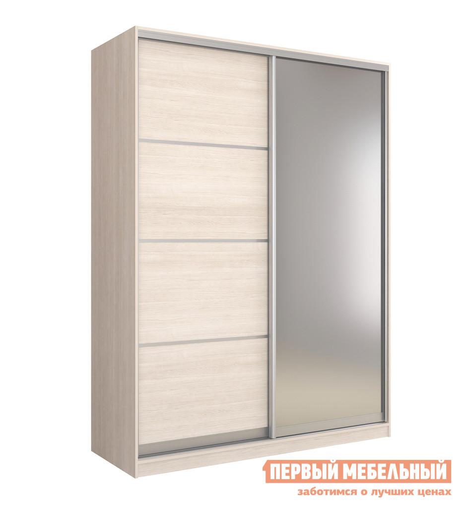 Шкаф-купе ЧСМФ Шкаф купе 2-х дверный БАВАРИЯ 180 - 3 Шамони Светлый
