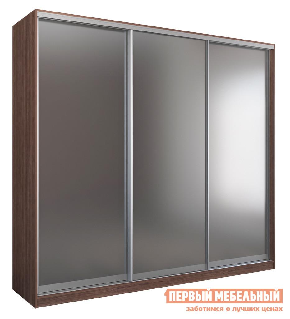 Шкаф-купе ЧСМФ Шкаф купе 3-х дверный БАВАРИЯ 270 - 4 Шамони Темный