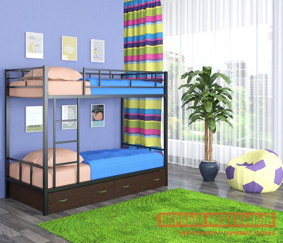 Двухъярусная кровать МФ 4 Сезона Ницца с ящиками