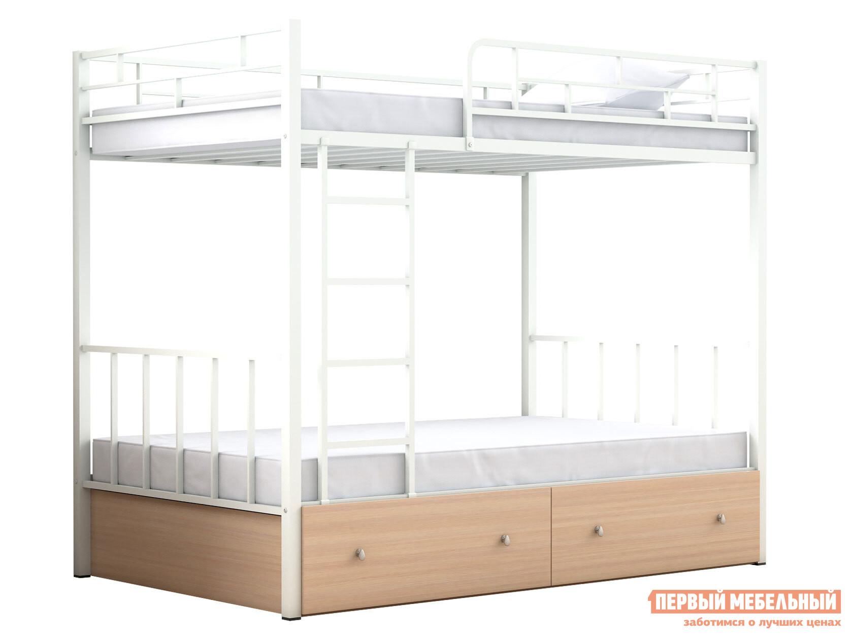 Двухъярусная кровать МФ 4 Сезона Двухъярусная детская кровать Валенсия 120 с ящиками