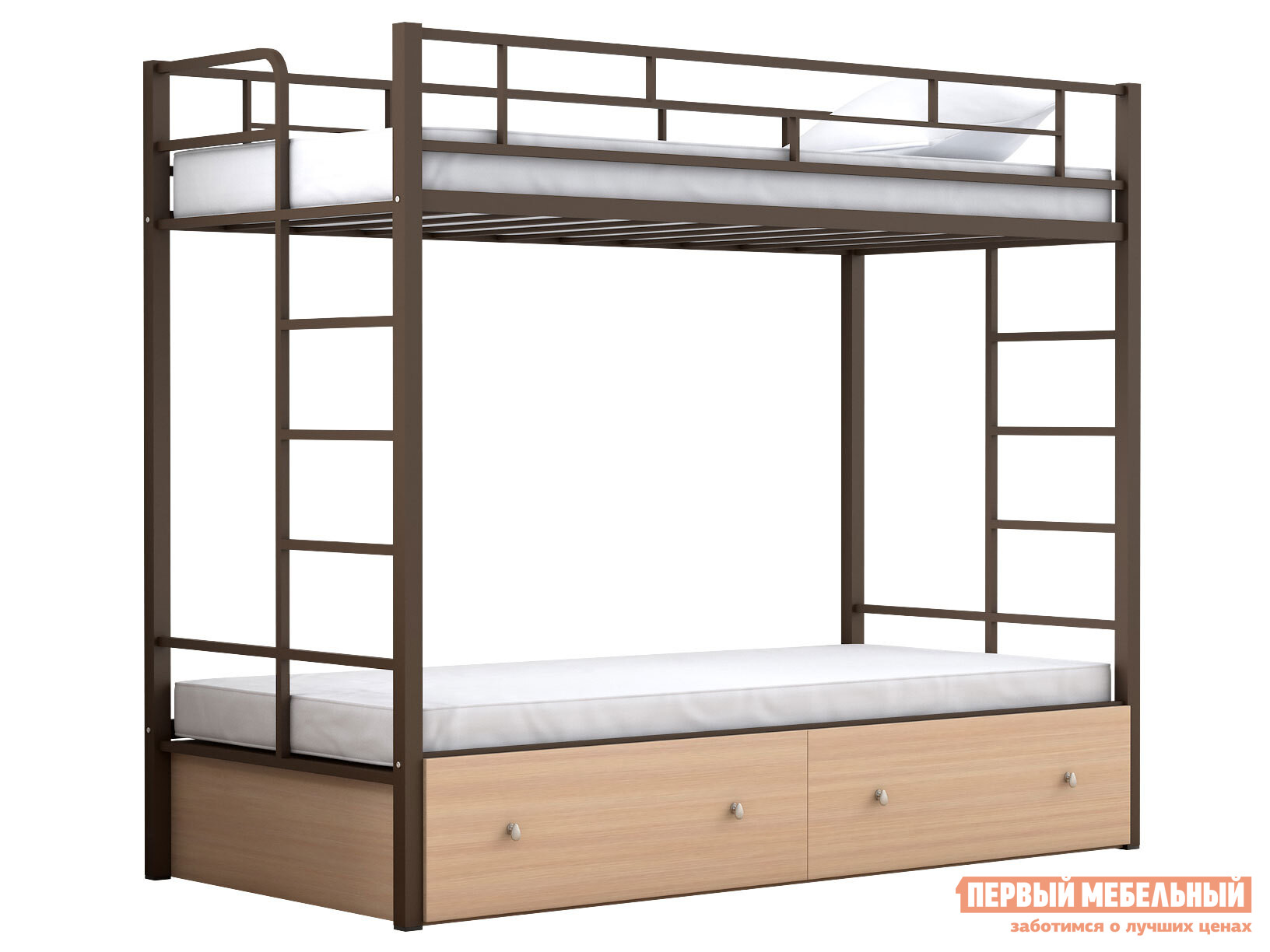 Двухъярусная кровать МФ 4 Сезона Двухъярусная детская кровать Валенсия Твист с ящиками