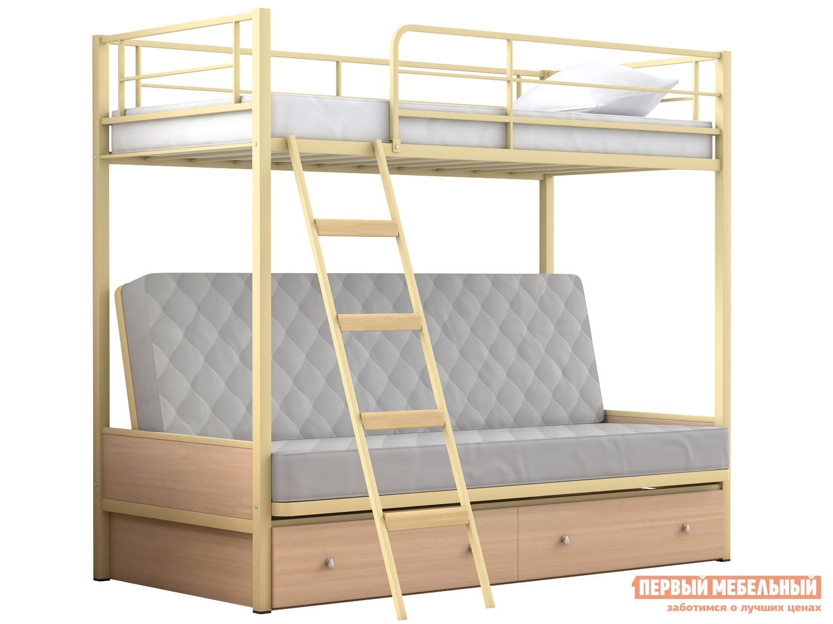 Кровать-чердак МФ 4 Сезона Двухъярусная детская кровать Дакар 2 с ящиками