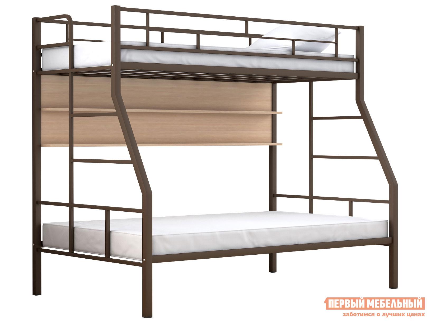 Двухъярусная кровать МФ 4 Сезона Двухъярусная детская кровать Раута Твист полка