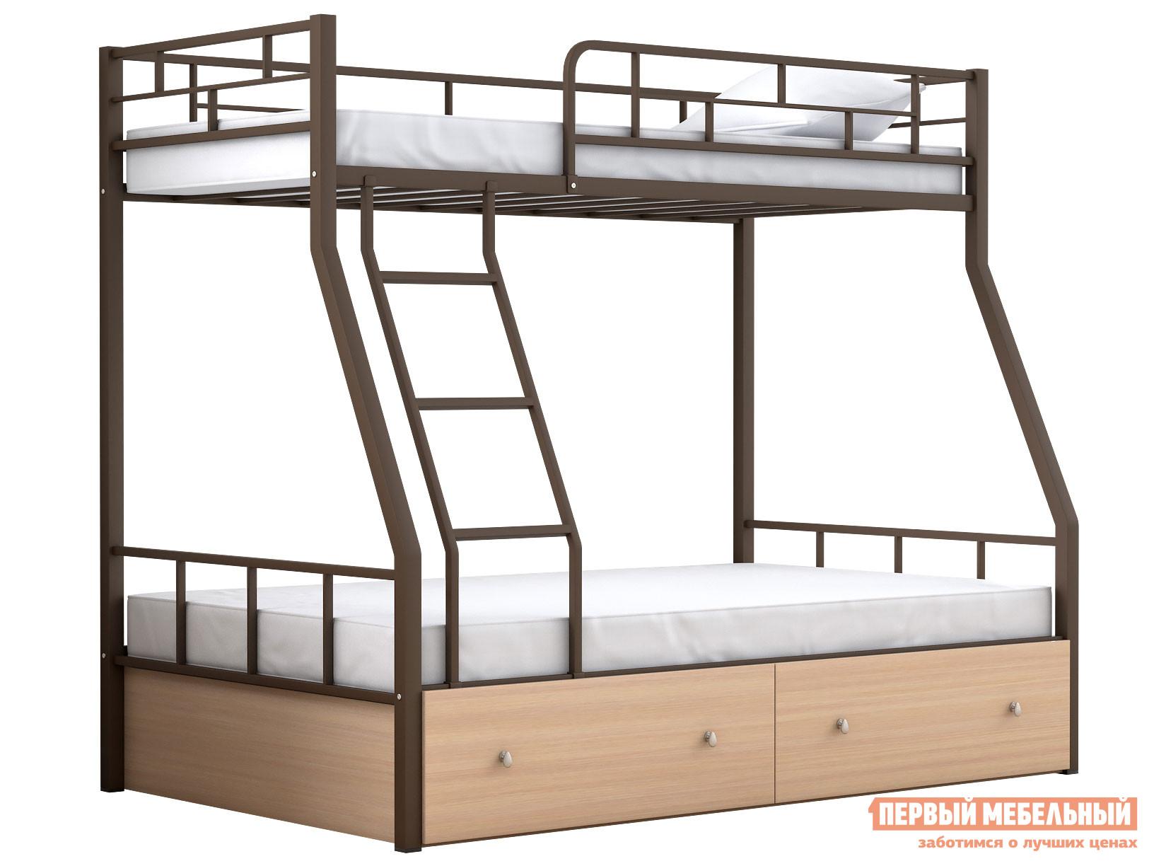 Двухъярусная кровать МФ 4 Сезона Двухъярусная детская кровать Раута с ящиками