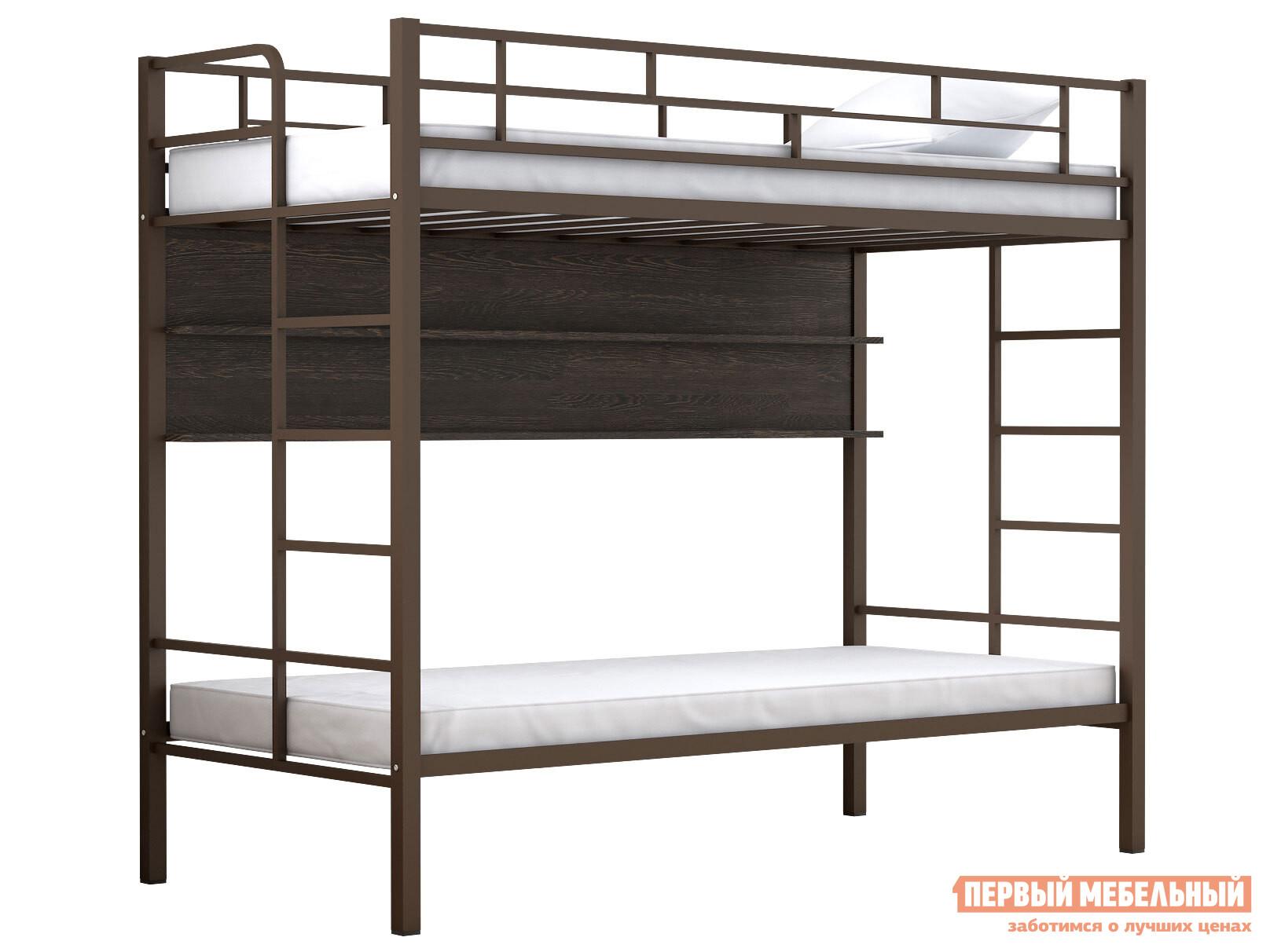 Двухъярусная кровать МФ 4 Сезона Двухъярусная детская кровать Валенсия Твист полка