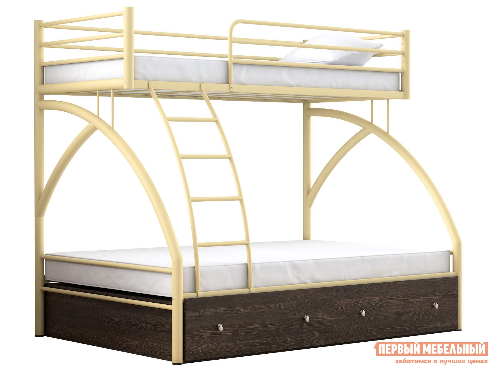 Двухъярусная кровать МФ 4 Сезона Двухъярусная детская кровать Клео с ящиками