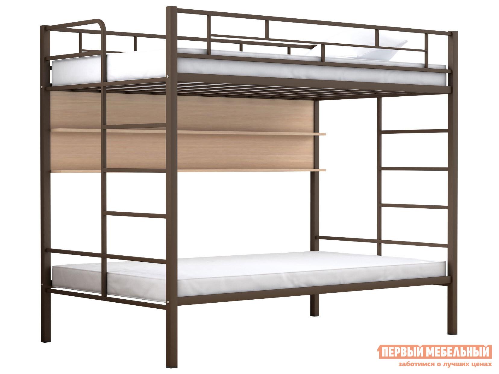 Двухъярусная кровать МФ 4 Сезона Двухъярусная детская кровать Валенсия 120 Твист Полка