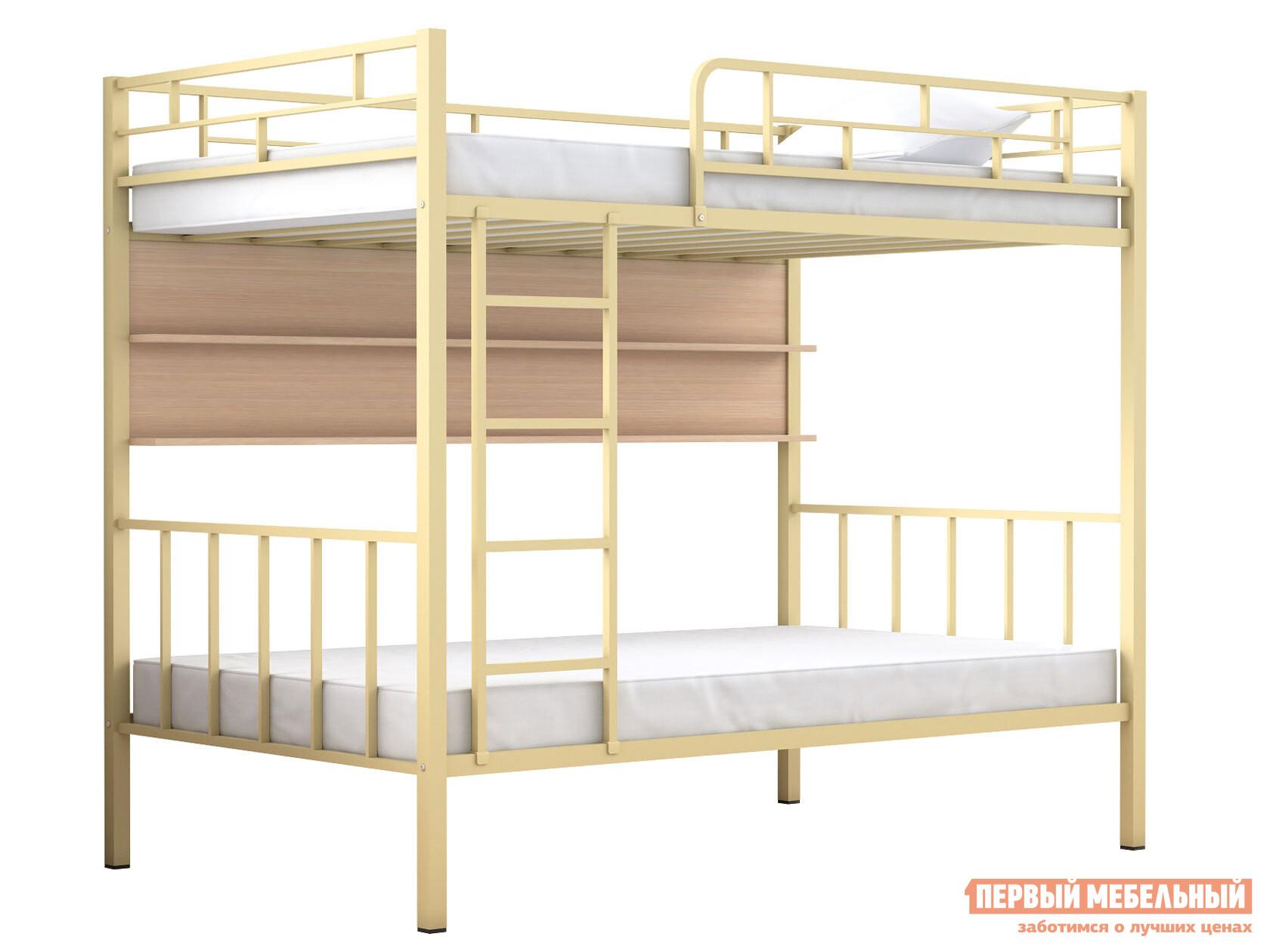Двухъярусная кровать МФ 4 Сезона Двухъярусная детская кровать Валенсия 120 Полка