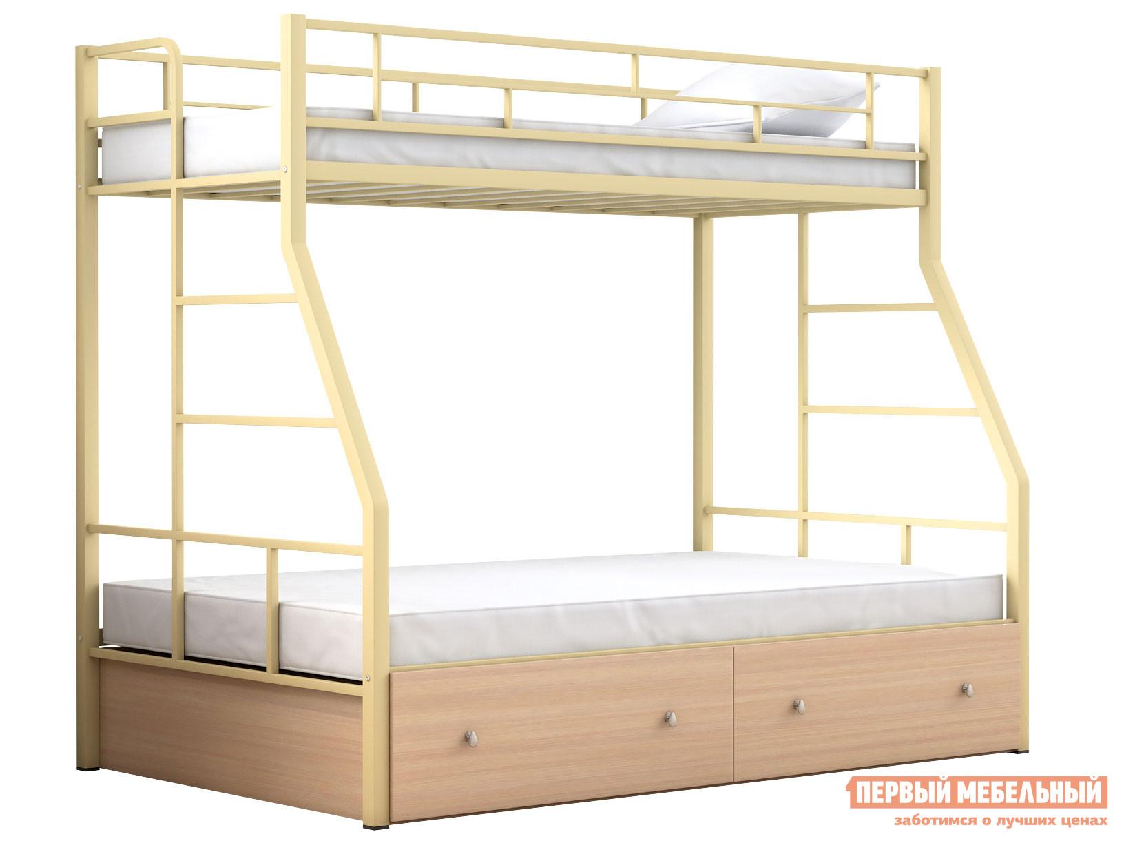 Двухъярусная кровать МФ 4 Сезона Двухъярусная детская кровать Раута Твист ящики