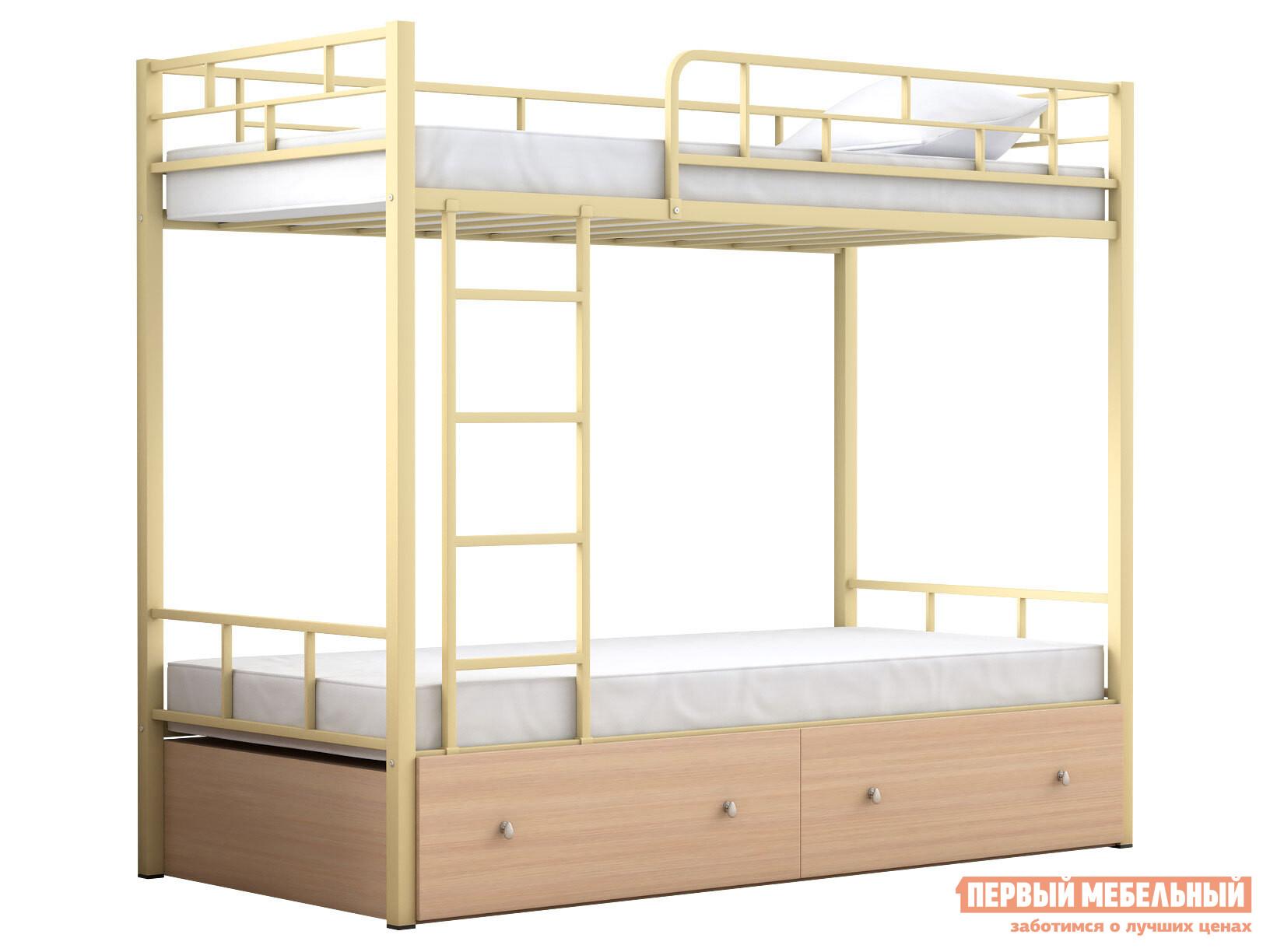 Двухъярусная кровать МФ 4 Сезона Двухъярусная детская кровать Валенсия с ящиками