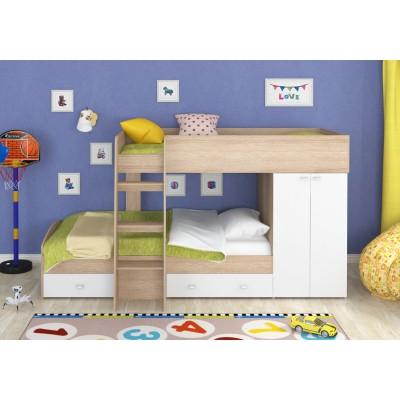 Кровать-чердак Golden Kids Golden Kids-2 Белый, Дуб Сонома