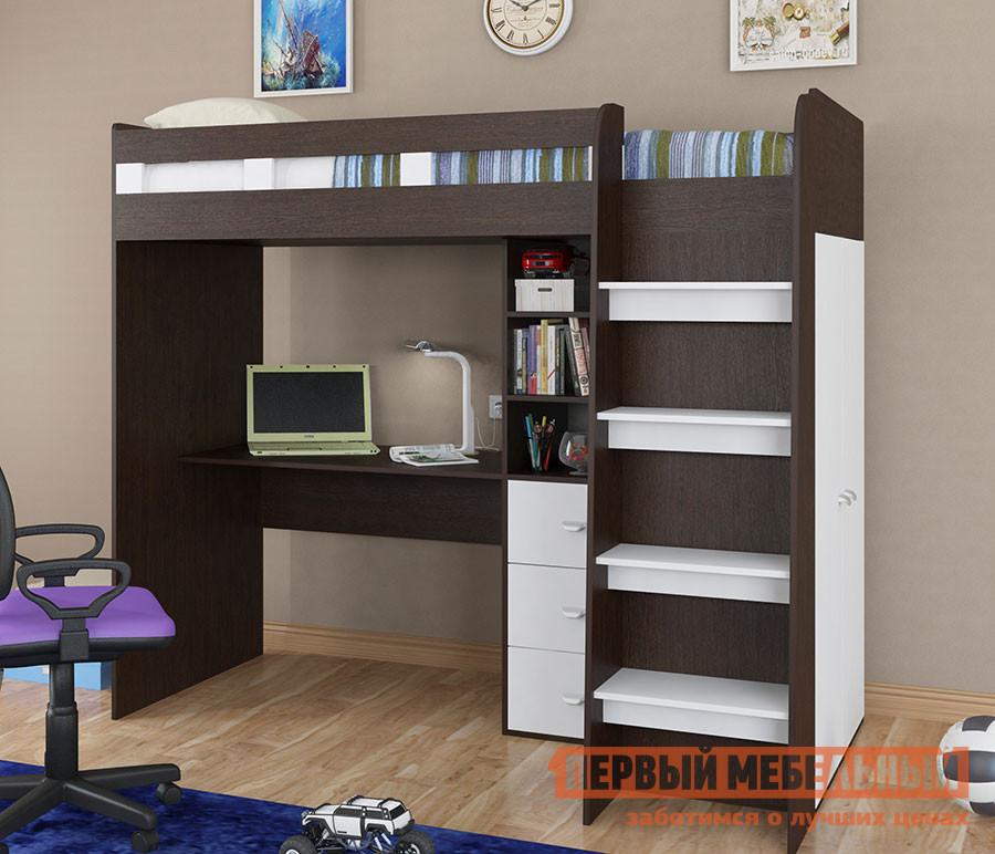 Высокая кровать-чердак для подростка МФ 4 Сезона Golden Kids-5