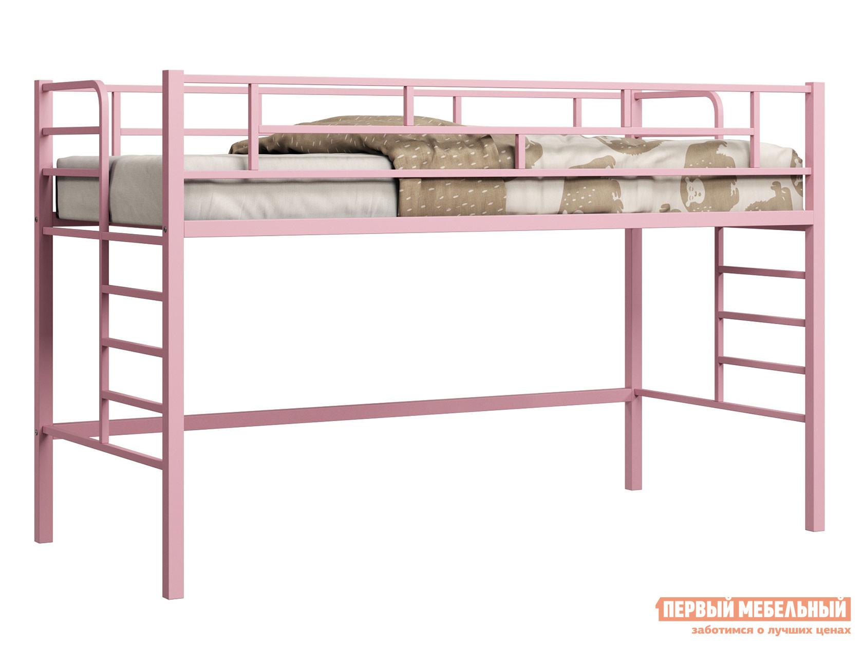 Кровать-чердак  Ассоль Розовый