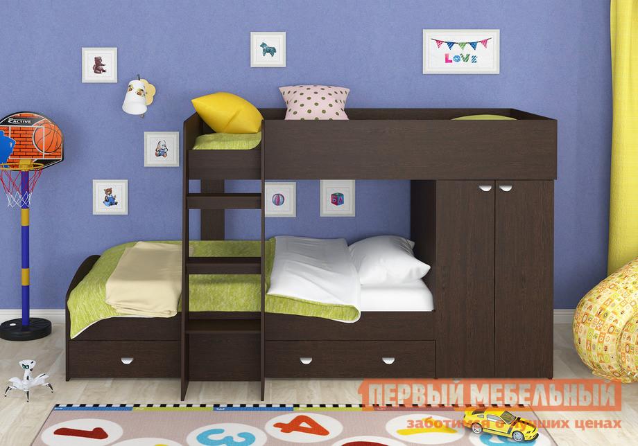 Кровать-чердак для подростка с двумя спальными местами Белый слон Golden Kids-2