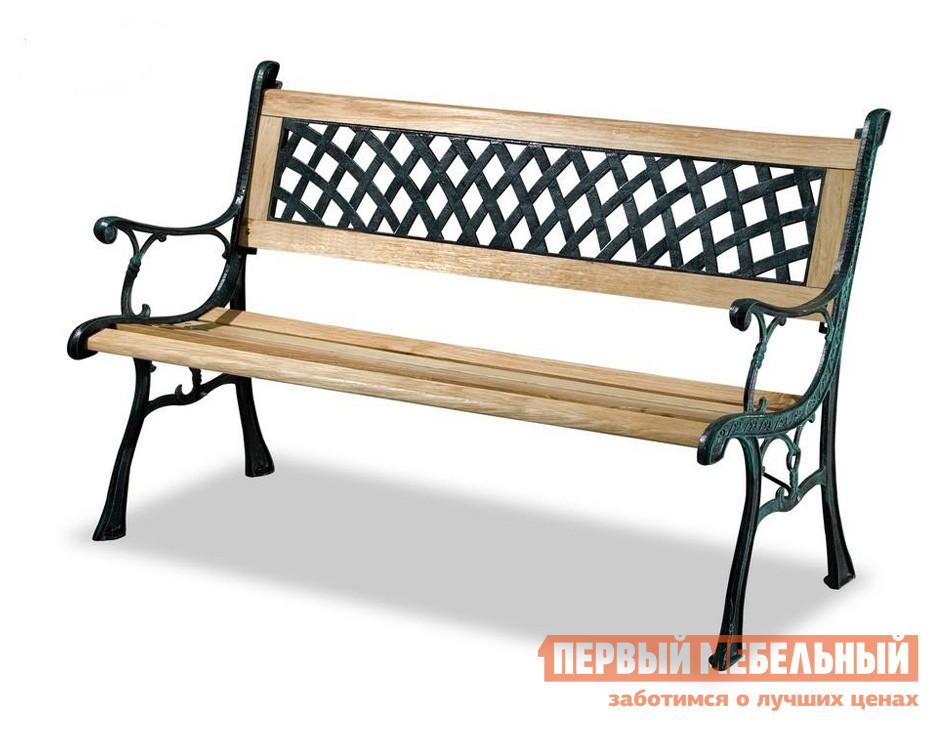 Кованая скамейка чугунная для дачи Лекс групп К001