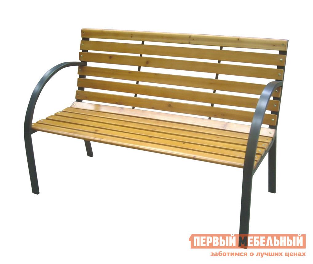 Металлическая скамейка со спинкой Лекс групп К076 «MENORCA»