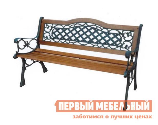 все цены на  Кованая чугунная скамейка со спинкой Лекс групп К067  в интернете