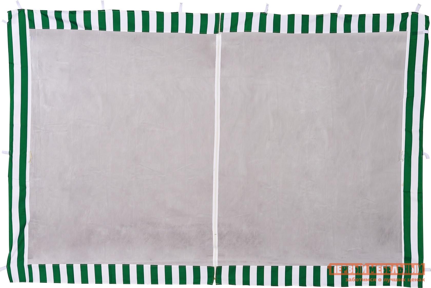 Аксессуар Green Glade Стенка с москитной сеткой ЗеленыйАксессуары для шатров<br>Габаритные размеры ВхШхГ 1950x2950x мм. Стенка с москитной сеткой Ормант от поставщика летней мебели и аксессуаров Green Glade.  Сетка не позволит назойливым насекомым попасть внутрь помещения.  А также через небольшие отверстия в шатер будет попадать свежий воздух, что актуально для теплого летнего вечера.  Стенка крепится к основанию каркаса за счет специальных петель с липучками.  Москитная сетка в центре имеет молнию, поэтому данная часть может служить дверью. Данная стенка предназначена для шатров размером (ШхГ): 3000х3000 мм.  Модель выполнена в двух самых популярных цветах: зеленом и синем. Обратите внимание! Цена указана за одну стенку, а не за комплект из четырех штук.<br><br>Цвет: Зеленый<br>Высота мм: 1950<br>Ширина мм: 2950<br>Кол-во упаковок: 1<br>Форма поставки: В собранном виде<br>Срок гарантии: 6 месяцев